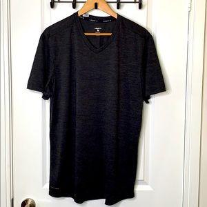 Layer 8 XL Gray Short Sleeve V Neck
